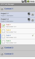 Screenshot of GTD Task Manager