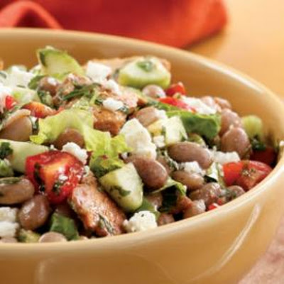 Toasted Pita & Bean Salad
