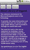 Screenshot of Library of England eBooks