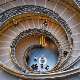 Vatican Stairway by David Gilchrist - Buildings & Architecture Architectural Detail