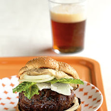 Minted Lamb Burgers with Feta and Hummus