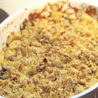 Smoked Gouda and White Cheddar Mac and Cheese with Swiss Chard