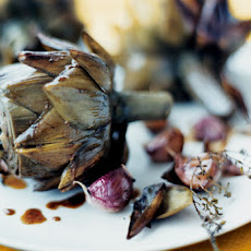 Artichokes with Garlic and Thyme Recipe