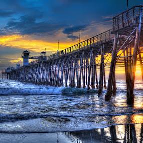 San Diego Sunset by Aaron Blackburn - Buildings & Architecture Bridges & Suspended Structures ( #GARYFONGDRAMATICLIGHT, #WTFBOBDAVIS )