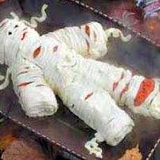 Yummy Mummy Cheese Spread (Mummy Shape) Halloween