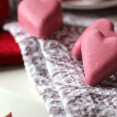 Strawberry Raspberry Milkshake Fudge Hearts