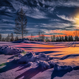 Askim, Norway 118 by IP Maesstro - Landscapes Sunsets & Sunrises ( winter, ip maesstro, hdr, sunset, sunrise, flares, landscape, askim, norway )