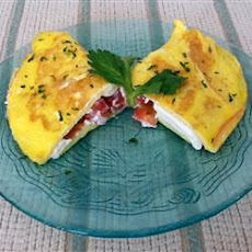 Cream Cheese and Tomato Omelet with Chives