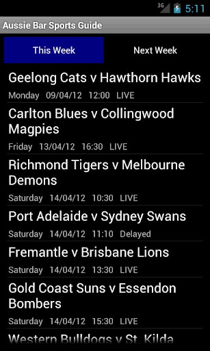【免費運動App】Aussie Bar TV Sports Guide-APP點子