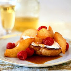 Warm Pear-Raspberry Bruschetta