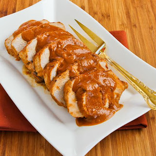 Slow Cooker Pork Sirloin Roast with Spicy Peanut Sauce