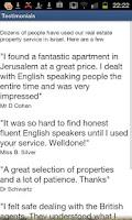 Screenshot of Real Estate Property in Israel