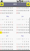 Screenshot of India Calendar 2014