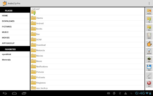 AndroZip™ PRO File Manager app for Android screenshot