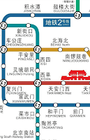 Screenshot of Beijing Subway Map