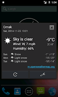 Screenshot of Weather notification