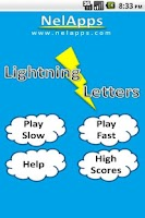 Screenshot of Lightning Letters