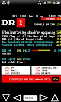 Screenshot of DR/TV2 Tekst TV Pro