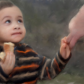 It's my doughnut! by Tom Reiman - Babies & Children Children Candids ( doughnut, boy,  )