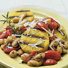 Grilled Polenta with Tomatoes and White Beans