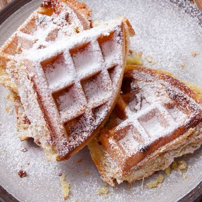Buttery, Flaky Frangipane Puff Pastry Waffles
