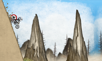 Screenshot of Stickman Downhill - Motocross