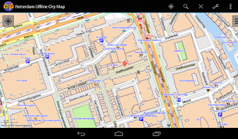 Screenshot of Rotterdam Offline City Map