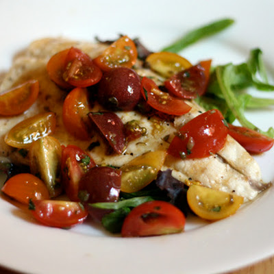 Grilled Whitefish Salad with Tomatoes and Tarragon Vinaigrette