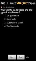 Screenshot of WoW Trivia