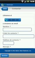 Screenshot of CajaGRANADA Banca Online