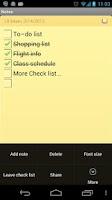 Screenshot of Notes
