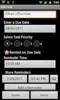 Screenshot of TaskMantra To-do List
