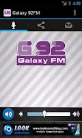 Screenshot of Galaxy 92FM