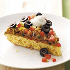 Mexican Corn Bread Pizza