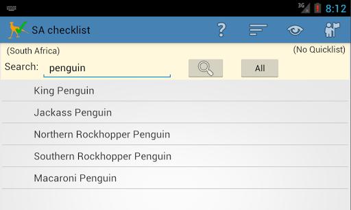 South Africa Birding Checklist - screenshot