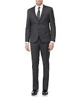 Hugo Boss Micro-Check Two-Piece Suit, Medium Gray - (44S)