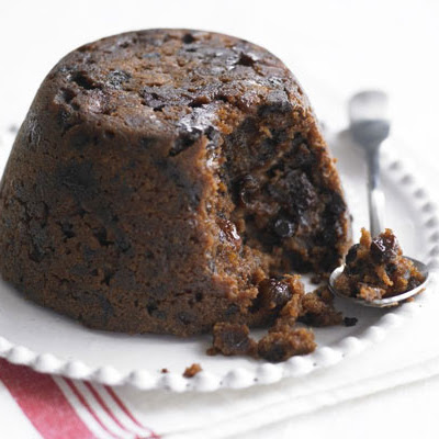 Chocolate, fruit & clementine Christmas pudding