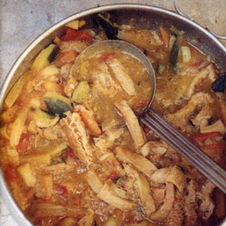 Trippa alle Verdure (Stewed Tripe with Vegetables)