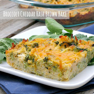 Broccoli Cheddar Hash Brown Bake