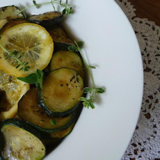 Yellow and Green Summer Squash With Lemon and Herbs