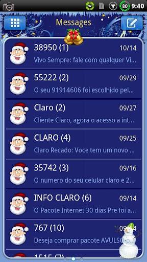 Christmas v2 GO SMS Theme