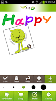 Screenshot of AIS mySticker Shop