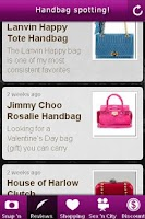 Screenshot of Handbag Spotting!