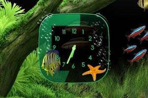 Screenshot of Aquarium Clock widget