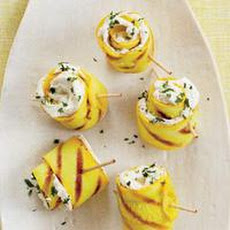 Cheesy Summer Squash Spirals