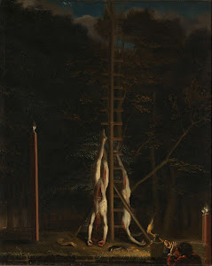 RIJKS: attributed to Jan de Baen: The Corpses of the De Witt Brothers 1675