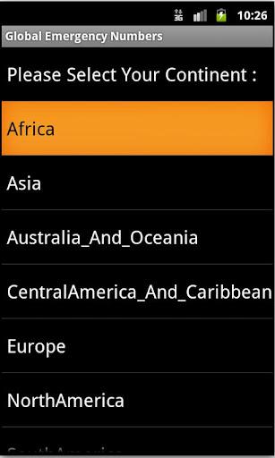 Global Emergency Numbers