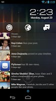 Screenshot of Notifly - Facebook Home Screen