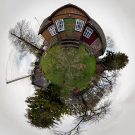 Little planet  by Kristian Pikner - Buildings & Architecture Homes ( estonia, planet, world, 360, little planet,  )