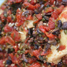 Chicken Thighs With Tomatoes, Olives and Capers